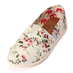 Floral Leisure Canvas Flat Shoes