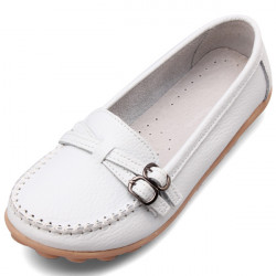 Genuine Leather Ballet Driving Loafers