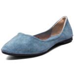Echtes Leder Ballett flache Schuhe Damen Schuhe
