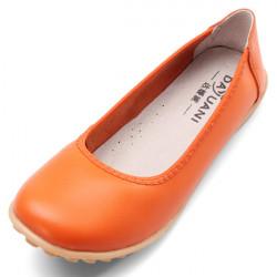 Echtes Leder Ballett flache Schuhe