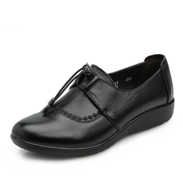 Echtes Leder Wohnungen Runde geschlossene Zehe faule Schuhe aus weichem Leder Loafers Damen Schuhe