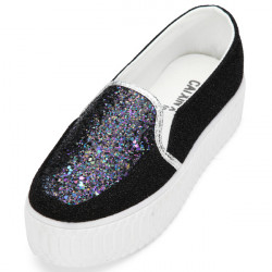 Glitter High Platform Canvas Casual Women Shoes