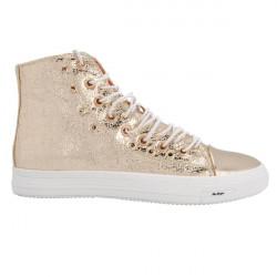 Glitter Lace Up Zipper Sneaker Sko