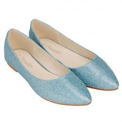 Glitter Spitzschuh flache Schuhe
