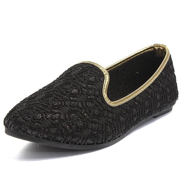 Hohl Spitze Spitzschuh Ballett flache Schuhe Damen Schuhe