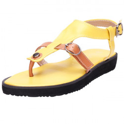 Hollow Out Double Buckle Flat Sandals