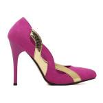 Aushöhlen Goldene Grenzte Pumpen Damen Schuhe