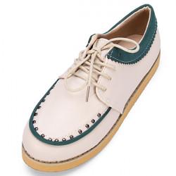 Lace up Niet Frauen Plattform Schuh