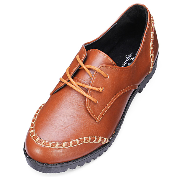 Lace up Runde Toe flache Frauen Schuhe Damen Schuhe