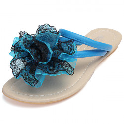 Floral Strappy Thong Slippers Blonder