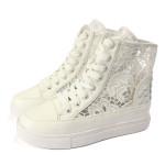Lace Hollow Out Kvinnor Orsaks Sneaker Platform Skor Damskor