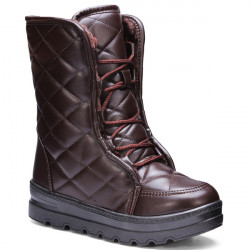 Leather Mid Calf Women Snow Boots