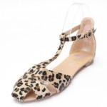 Leopard Flat Heel Flip Flops Women's Shoes