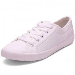Low Help Lace-up Soft Bottom Shoes White Canvas Shoes