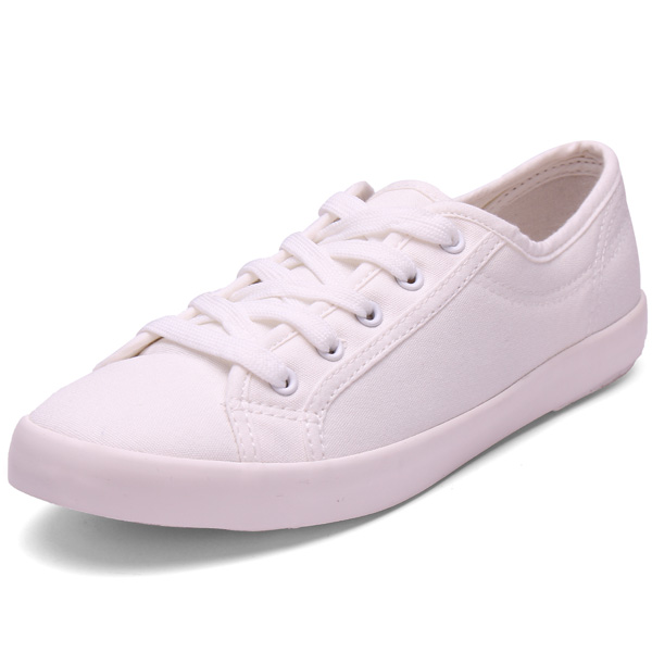 Low Help Lace-up Soft Bottom Shoes White Canvas Shoes Women's Shoes