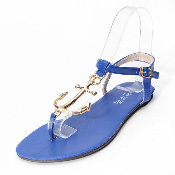 Metal T Strap Buckle Sandals Women's Shoes
