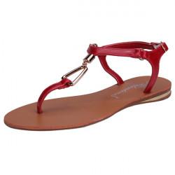 Metal Triangle Belt Buckle Flat Sandals