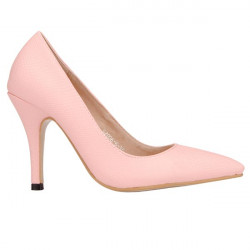 PU Pointed Toe Pure Color Pumps
