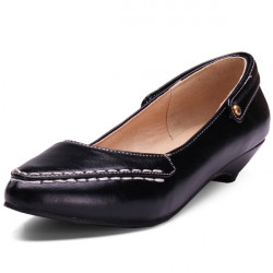 Pointed Artificial  Leather Shoes