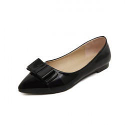 Pointed Toe Bowtie Flat Shoes
