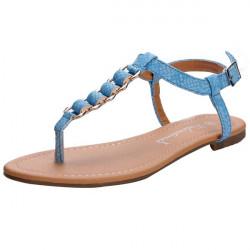 Pure Color Buckle Flat Sandals