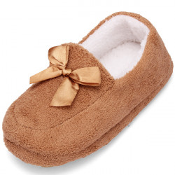 Pure Color Butterfly Close Toe Cotton Home Slippers Indoor Shoes