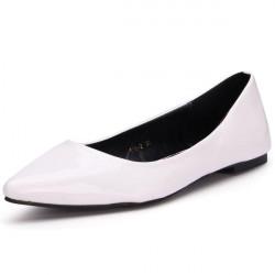 Pure Color Spitzschuh flache Schuhe