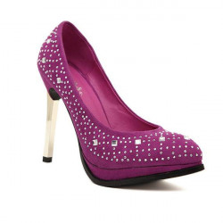 Rhinestone Thin Heel Pointed Toe Pumps