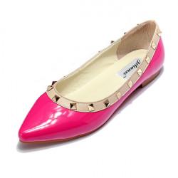 Rivet Studded Metal Flat Shoes