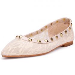 Sexy Spitze Frauen flache Schuhe