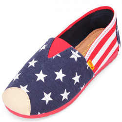 Star Stripe Canvas Women's Flat Casual Shoes