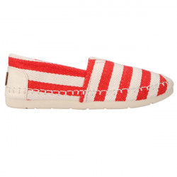Stripe Canvas Flat Casual Sneaker Sko