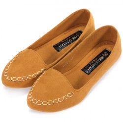 Suede Ballet Flat Leisure Shoes