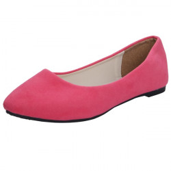 Suede Pure Color Pointed Flat Casual Shoes