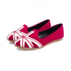 UK Flag flache Frauen Schuhe