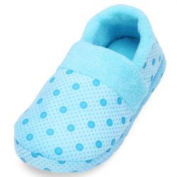 Winter Dot Cotton Warm Indoor Slippers