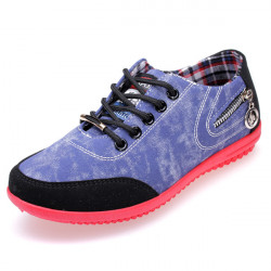 Frauen Cowboy Gelegenheits seitlichen Reißverschlüssen Schuhe Sneakers
