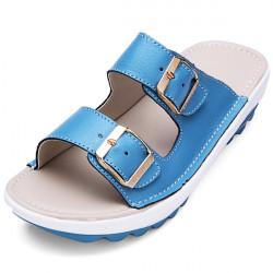 Kvinder Platform Buckle Slippers