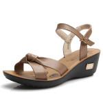 Frauen Sommer Mode Ledersandalen öffnen Zehe Sandalen Wedges Damen Schuhe