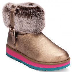 Women Winter Autumn Warm Plush PU Leather Snow Boots