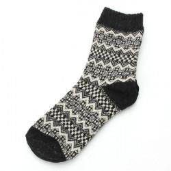 Kvinder Uld Mellemøsten Tube Tykkere Casual Blomst High Ankle Socks