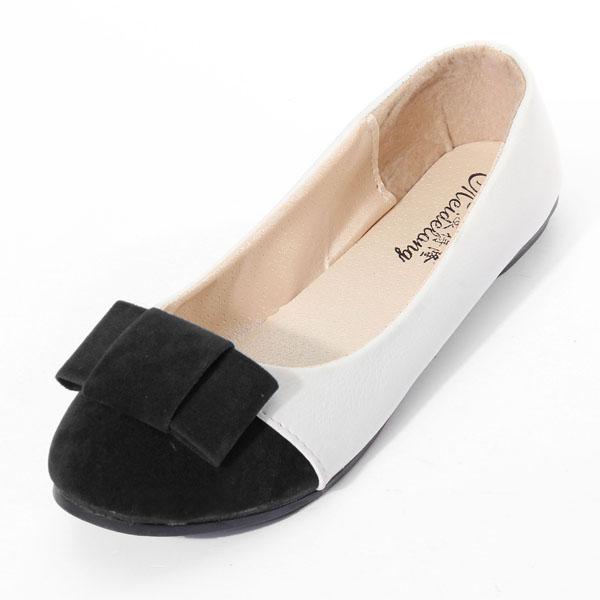 Frauen Casual Bogen flache Schuhe Damen Schuhe