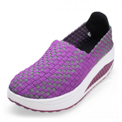 Women's Stretch Casual Breathable Knit Shook Shoes Sneakers