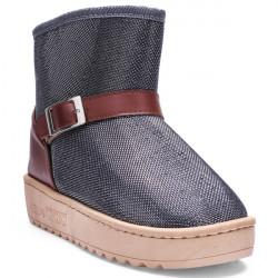 Damen Winter Herbst Warm Pailletten kurze Schnee lädt weiche flache Schuhe