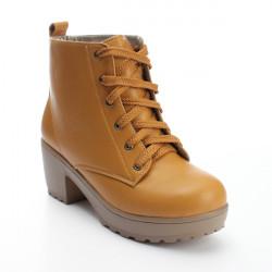 Kvinders Vinter Round Toe Martin Boots Lace Up Plateau Sko