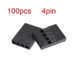 100stk 4P Dupont Jumper Stecker weiblich Stift Kabel 2,54 mm Rastermaß Computer Komponenten