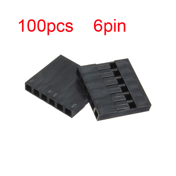 100stk 6P Dupont Jumper Stecker weiblich Stift Kabel 2,54 mm Rastermaß Computer Komponenten