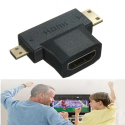 1080p HDMI Female to Mini Micro HDMI Jack Male V1.4 90 Degree Adapter