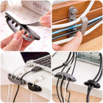10er Flexible Kabel Draht Netzkabel Organizer Holder Clip Clinch Fixer 3 Größen Computer Komponenten