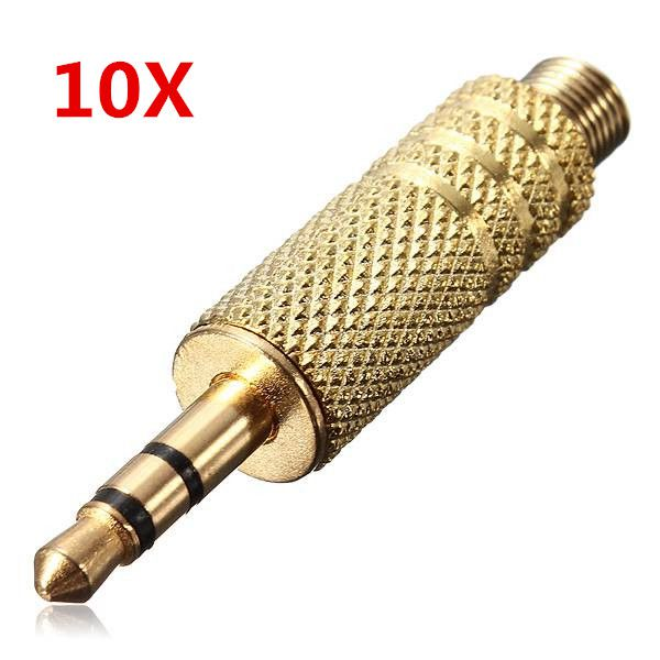 10X3.5mm 3Pole Golden Han Repair Hovedtelefoner Audio Jack Stik Stik Computer Komponenter